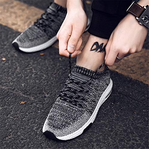 Nero LIEBE721 Fashion Ammortizzazione Traspirante da Sneaker Antiscivolo Flying Corsa Sportive Casual Outdoor da Weaving Uomo Scarpe Training Scarpe 4wrZqT4