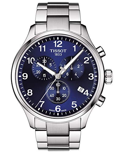 - Tissot Men's Chrono XL Classic - T1166171104701 Blue/Grey One Size