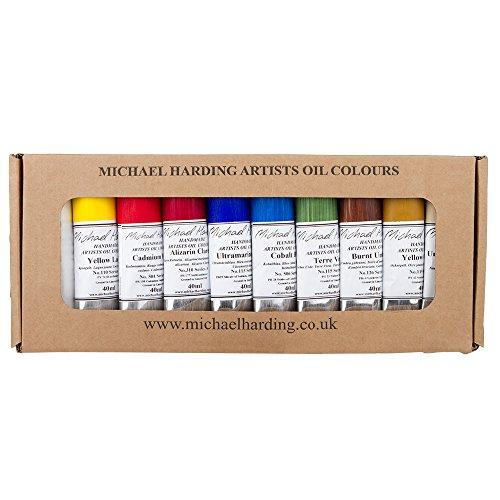 Michael Harding's Artist Oli Colours, Plein Air Oil Paint Painter Set, Ten 40ml Tubes, 0040013 - $183.22