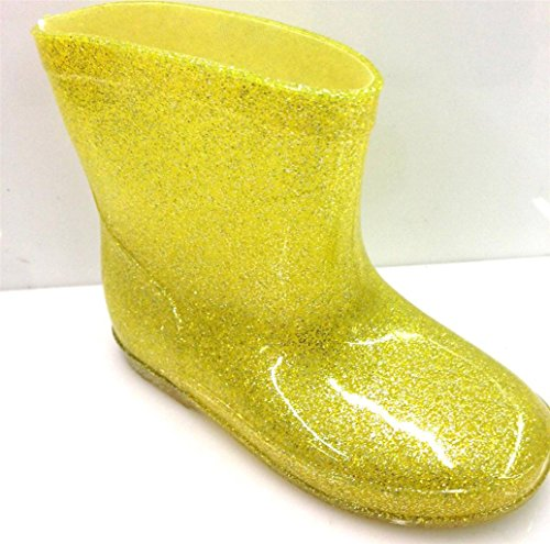 Unisex Toddlers Boys Girls Rain Boots Glitter Design Kids Sh