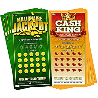 8 Fake Lottery Tickets and Scratch Off Cards that Look Real - Funny Prank Gag Set - Winning $1 Million Lottery Ticket - Hilarious and Shocking Pranks will have your Friends and Family in Stitches