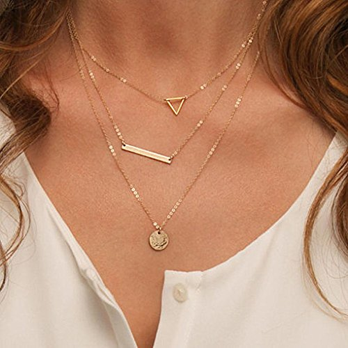 Aukmla Layered Necklaces Jewelry with Pendant for Women and Girls