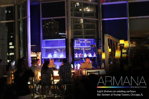 LED Liquor Shelf and Bottle Display - Programmable Shelving Includes Wireless Remote and Power Supply by Armana Productions (Image #5)'