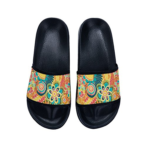 Slippers Slippers Colorful Non Black Pattern Graffiti Womens Drying Flowers Slip for Slippers Quick rxCqrHn