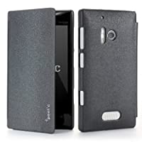 Nokia Lumia 928 Case - Poetic Nokia Lumia 928 Case [FlipBook Series] - [Lightweight] [Professional] PU Leather Protective Flip Cover Case for Nokia Lumia 928 Black (3 Year Manufacturer Warranty From Poetic)