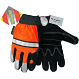Memphis C911DPL Luminator Gloves With 3M Reflective Tape, Unlined, Large