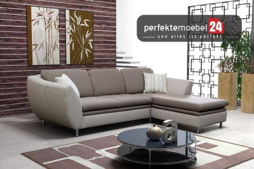 Wohnlandschaft Couch mit Schlaffunktion Eckcouch Sofa Polster Ecke LUGANO (akai)