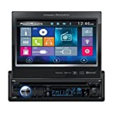 Power Acoustik PD724HB Single Din AM/FM/DVD/BT flip out 7'' mobile link X1