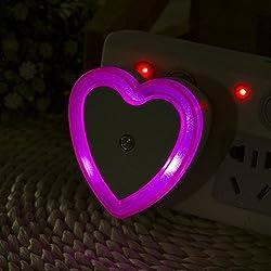 Nightlight,YJYdada Automatic Light Control Sensor Wall LED Night Light Lamp Room Home US Plug (Hot Pink)