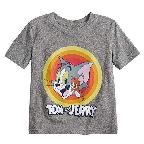 Jumping Beans Little Boys' Toddler 2T-5T Tom and Jerry Classic Tee 2T Gray