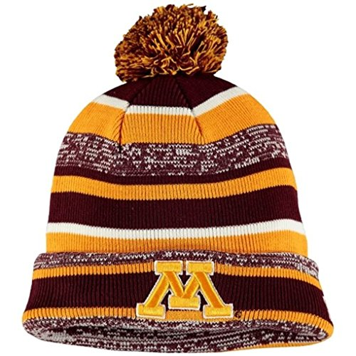 New Era NCAA Sport Cuffed Knit Hat with Pom (OSFM, Minnesota Golden - Wool Gophers Minnesota Golden