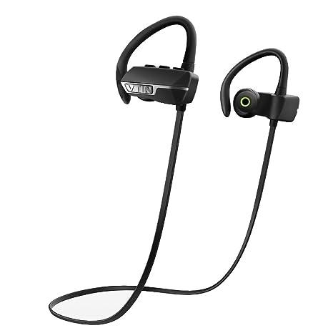 Vtin Auriculares Bluetooth 4.1 con Sonido Estereo y con Mic Manos Libres para Correr, Deporte