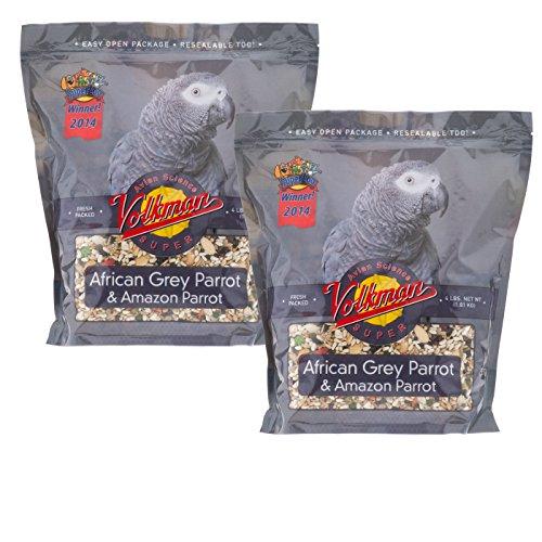 - Volkman Avian Science Super African Grey Bird Food for Parrots - 4 Lb (Pack of 2)