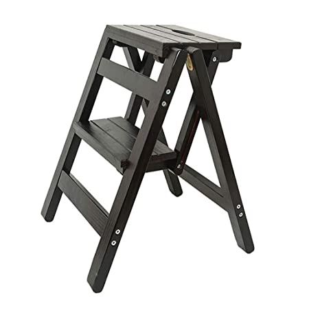 Fantastic Step Stool Folding Ladder Solid Wood 2 Step Small Ladder Andrewgaddart Wooden Chair Designs For Living Room Andrewgaddartcom