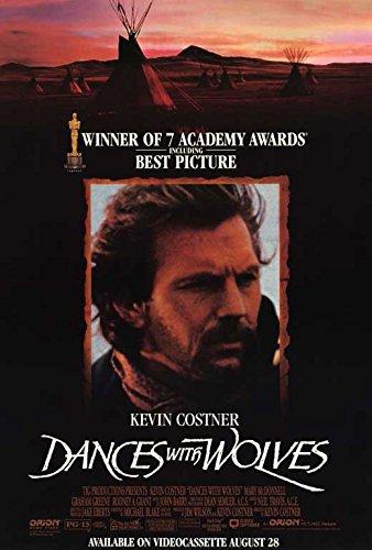 Amazon.com: Bailando con lobos cartel de película (27 x 40 ...