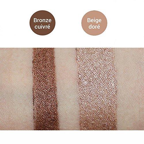 Avril orgánico certificado 2 en 1 Delineador de sombra de ojos y Noir Charbon/marrón nácar: Amazon.es: Belleza