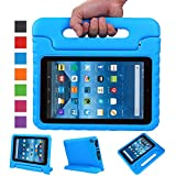 Fire 7 Case,Fire 7 2015 Case,SNOW WI®-Kids Shock Proof Convertible Handle Stand Light Weight Super Protective Stand Cover for Amazon Fire Tablet (7 inch Display, 2015 Release Only) (Blue)