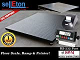 Selleton 48'' X 60'' (4' X 5') Heavy Duty Floor Scale With Ramp & Printer 2500 Lbs X .5 Lb