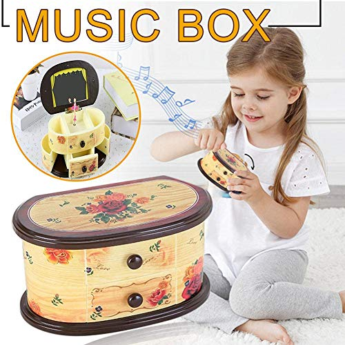 Beautiful Ballet Dancer Doll Music Box Jewelry Organizer Make Up Musical Boxes for Kids Girls Children Birthday -