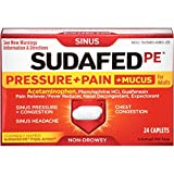 Sudafed PE Pressure + Pain + Mucus Caplets, 24 Count