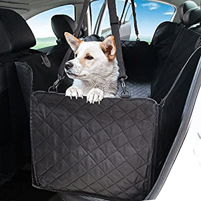 Collapsible Pet Booster Car Seat - Two Support Bars, Portable Small Dog Cat Car Carrier with Safety Leash and Zipper Storage Pocket