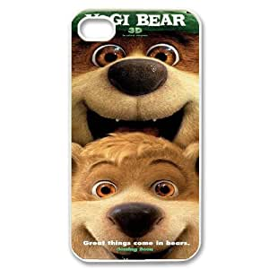 James-Bagg Phone case Funny Yogi Bear Protective Case For Iphone 4 4S case cover Style-6