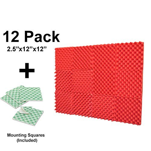 12-pk-25x12x12-red-soundproofing-foam-acoustic-eggcrate-tiles-studio-foam-sound-wedges-with-24-doubl