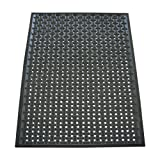 Rubber-Cal 03-181-BK ''Kitchen Mat'' Anti-Slip Grease Proof Chef Mats, 3/8'' x 36'' x 60'', Black