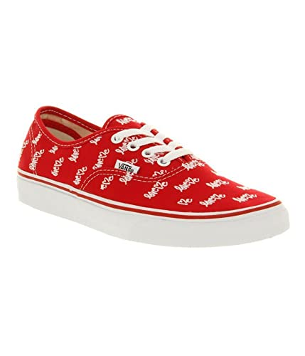 Vans Authentic Sneaker Love Me x Vans/Red Red 42