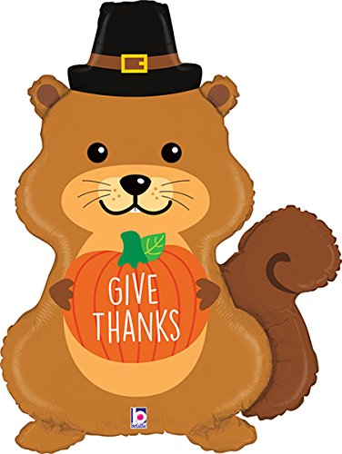 32 Inch Thanksgiving Pilgrim Squirrel Balloon - 5 Pieces (Pilgrim 5 Piece)
