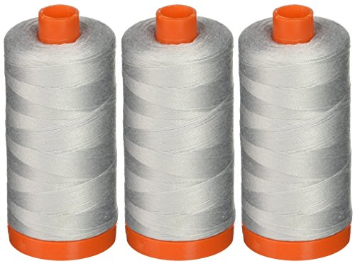 3-PACK - Aurifil A1050-2600 Mako Cotton Thread Solid 50WT 1422Yds Dove -