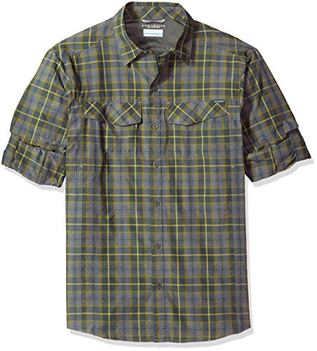 Columbia Mens Silver Ridge Plaid Long Sleeve Shirt, X-Large, Gravel Plaid