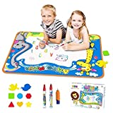 Toyk Aquadoodle Drawing Mat - Painting Writing Doodle Board Toy - Color Aqua Magic Mat and 3 Magic Pens Educational Toy for kids Toddler