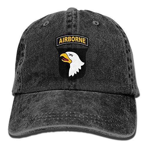 DeReneletrc Unisex Army 101st Airborne Division Low Profile Plain Baseball Cap Vintage Washed Adjustable Dad Hat Trucker Cap