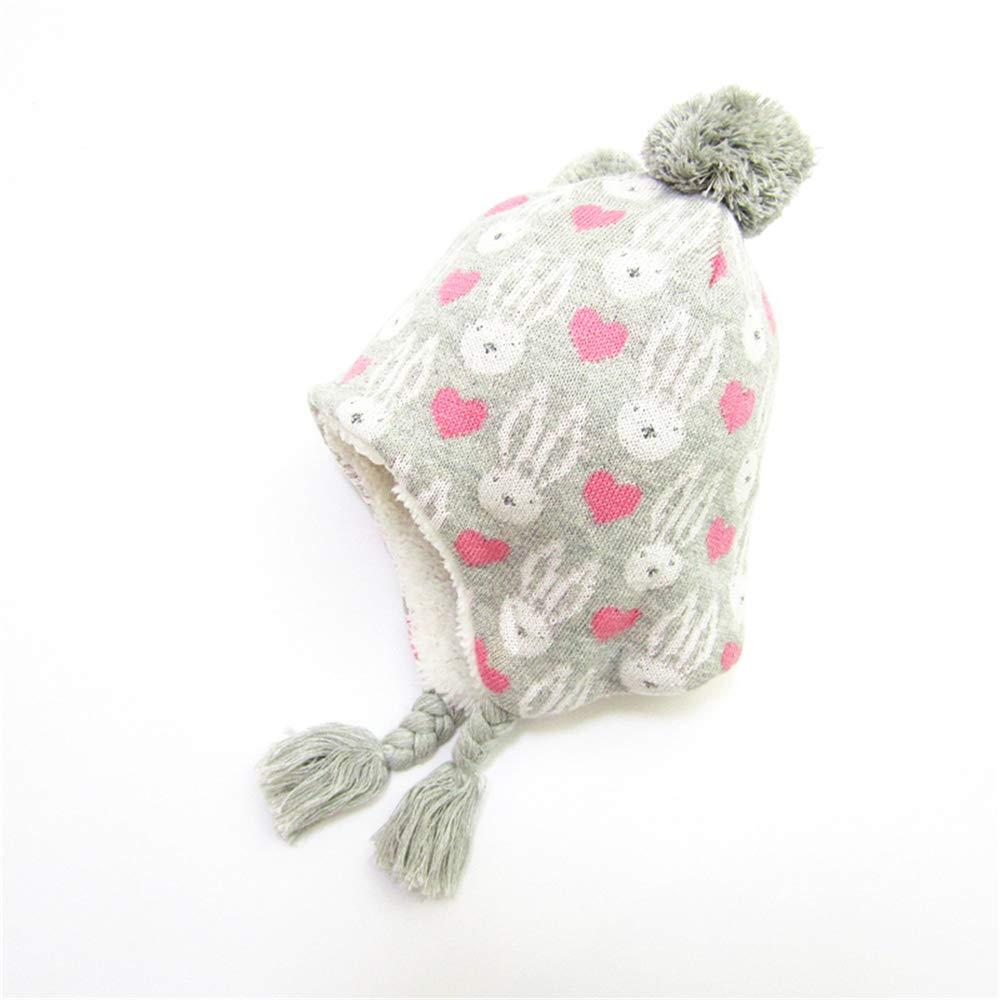 fangkuai-hat Sombrero de Punto Niños Invierno Exterior Conejo Gorro ...