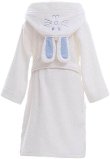 Los niños de algodón Albornoz Soft Swim Baño Bata Robes Pijamas con Sombrero Conejo-Blanco: Amazon.es: Ropa y accesorios