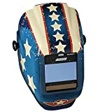 Jackson Safety 46101 Insight Variable Auto Darkening Welding Helmet , HaloX , ADF, Stars & Scars Graphic