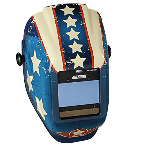 Jackson Safety 46101 Insight Variable Auto Darkening Welding Helmet , HaloX , ADF, Stars & Scars Graphic by Jackson Safety
