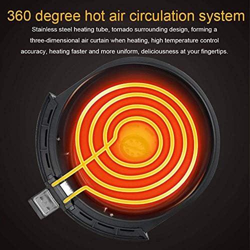 zyl Air Fryerm Friteuse à air Chaud électrique de 38 L Cuiseur de Four Compact Cuiseur sain sans Huile réglages de température/minuterie sans BPA pour rôtir et réchauffer Noir