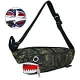 Babyprice Men Fanny Pack Waist Bag 3D Whale Travel Pocket Sling Chest Shoulder Bag Phone Holder Running Belt For Workout Vacation Hiking, camouflage (camouflage)