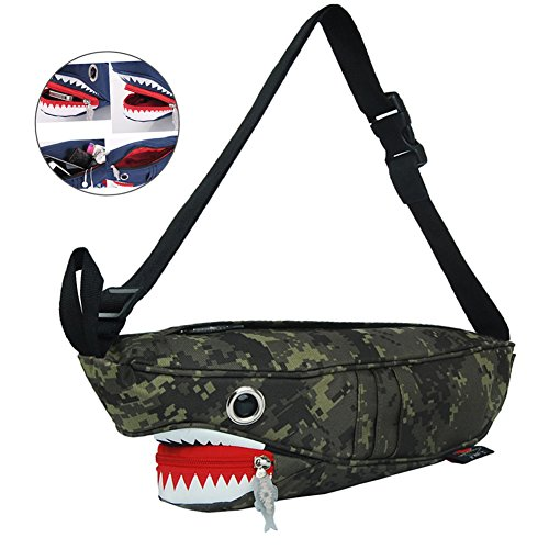 Babyprice Men Fanny Pack Waist Bag 3D Whale Travel Pocket Sling Chest Shoulder Bag Phone Holder Running Belt For Workout Vacation Hiking, camouflage (camouflage) by BabyPrice