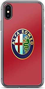 iPhone Xs Max Case Cases Clear Anti-Scratch Alfa Romeo Cover Case for iPhone Xs Max, Crystal Clear
