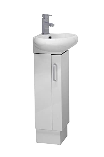 white corner bathroom vanity unit set