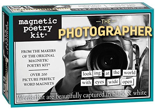 Magnetic Poetry - The Photographer Kit - Words for Refrigerator - Write Poems and Letters on the Fridge - Made in the USA