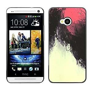 For HTC One M7 Case , Red Sky Magma Under Water - Diseño Patrón Teléfono Caso Cubierta Case Bumper Duro Protección Case Cover Funda