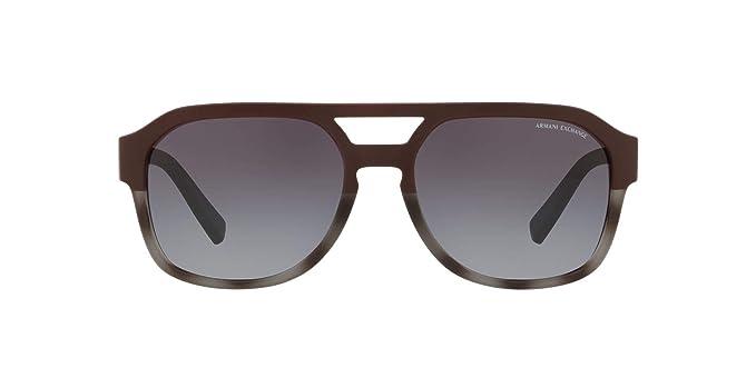 a896efe5a811 Armani Exchange Men's Plastic Man Sunglass Rectangular Grey Havana/Matte,  ...