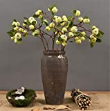 Skyseen 23.6'' Artificial Apple Tree Branches Fake Fruits Leaves for Home Office Decoration (3 pcs,Style 2)