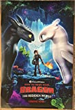 HOW TO TRAIN YOUR DRAGON 3 THE HIDDEN WORLD MOVIE POSTER 2 Sided ORIGINAL 27x40