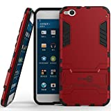 htc one virgin mobile phone case - HTC One X9 Case, CoverON [Shadow Armor Series] Hard Slim Hybrid Kickstand Phone Cover Case for HTC One X9 - Red