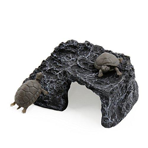 Amazon.com : eDealMax Gris Oscuro paisaje submarino Tortuga Suba hueco de Piedra decoración del hogar Para el acuario : Pet Supplies